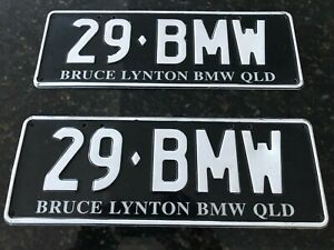BMW Queensland personalised number plates (29 BMW) PPQ