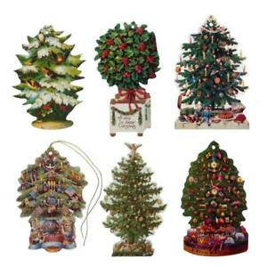 150 Victorian Die-cut Christmas Tree Gift Tags by Courtier (EG)