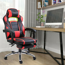 Racing Gaming Computer Chair PU Recliner Office Swivel Lift Adult Executive Seat