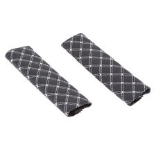 Pair Car Seat Belt Covers for Adults Seat Belt Pads Shoulder Pad White Line