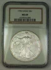 1996 American Silver Eagle ASE Dollar $1 Coin NGC MS-69 Nearly Perfect GEM
