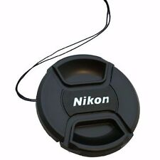 58mm Center Pinch Snap On Front Lens Cap + String Keeper For Nikon DSLR Camera