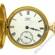 Antique Patek Philippe Tiffany & Co. Etched 18K Yellow Gold Pocket Watch Ca 1900