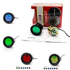 Car Motorcycle 52mm 7 Color Oil Press Pressure Gauge Meter Car Digital LED Light