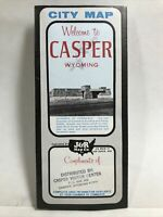 1965 CASPER WYOMING CITY MAP Local Business Advertisements Travel Tourist Guide