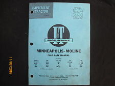 MINNEAPOLIS-MOLINE & AVERY Flat Rate Manual Book I&T Manual No. MM-12 1962