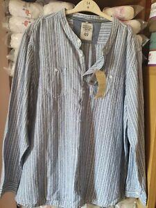 Mens grandad nech linen blend shirt size XXL. BNWT
