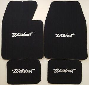 1963,1964, buick wildcat loop carpet floor mats black