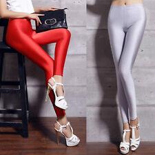 Sexy Skinny Leggings Women Apparel Shiny High Waisted Stretchy Disco Hot Pants