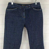 Jones New York Womens Size 6 Stretch Blue Dark Wash Mid Rise Flare Trouser Jeans