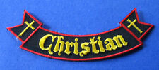 BRAND NEW CHRISTIAN RELIGIOUS ROCKER IRON ON PATCH