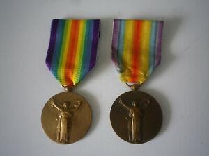 2 Médaille La Grande Guerre pour la Civilisation Morlon Bronze, medal