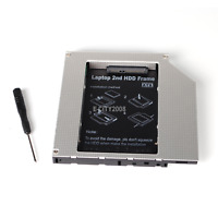 """2nd HDD Caddy IDE To SATA 2.5"""" SSD Case For Laptop DVD/CD-ROM Optical Bay 12.7mm"""