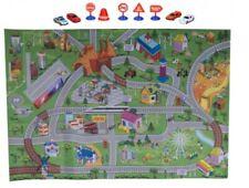 Tappeto Gioco Per Bambini 80 x 120 Cm Con Mappa Strade e Citta'