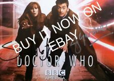 Doctor Who Auto SDCC PostCard 2008 Signed Steven Moffat,Julie Gardner, Not Topps