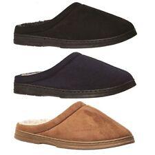 Mens Slippers Grosby Tobias BLACK NAVY CAMEL Slipper Scuffs Woolly Size S M L XL