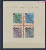 Franz. Zone-Baden Block2II geprüft gestempelt 1949 Rotes Kreuz (8289310