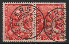 Norway 1941, NK 296 Pair Son Seterstøa 8-6-42 (AK)