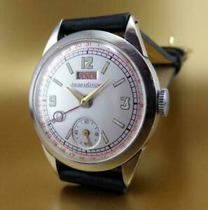 VINTAGE & RARE JAEGER LeCOULTRE UNIPLAN CALENDAR DUO DATE 1939 WristWatch!