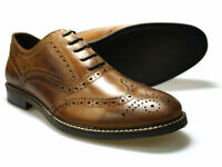 Red Tape Bradshaw Brown Men's Leather Brogue Shoes UK 7 - 12 RRP �50 Free P&P!