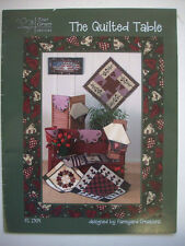 The Quilted table runners pattern hearts flowers cherries small designs placemat