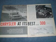 "1962 Chrysler 300 Vintage Info Article ""Chrysler at its Best...300"" 300H"
