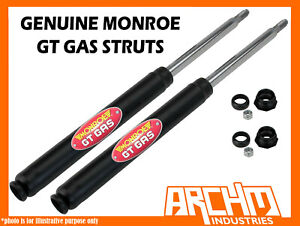 FRONT MONROE GT GAS SHOCK ABSORBERS/INSERTS/STRUTS FOR HOLDEN APOLLO 1987-1992