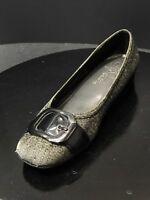 Life Stride Women's Ballet Flats Black /Grey Buckle Shoes Size US 7 M