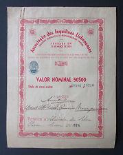Portugal - Associação dos Inquilinos Lisbonenses, 5 Shares, N/D (1924) - *RARE*