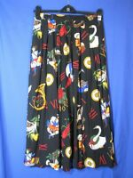 Vintage SHARON YOUNG Pleated Full Skirt TWELVE DAYS OF CHRISTMAS PRINT Wow! 12/L