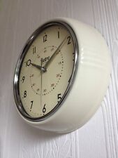 NEW RETRO 50's STYLE METAL DINER WALL CLOCK OFFICE KITCHEN HOME FOUR COLOURS