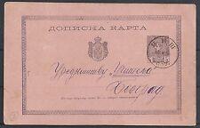 Serbia 1884 PC Nisch to Belgrad