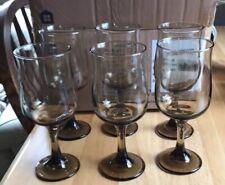 wine glasses -- set of 6 brown glass