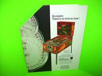 Williams SCORPION Original 1980 NOS Flipper Pinball Machine Promo Flyer POP-UP