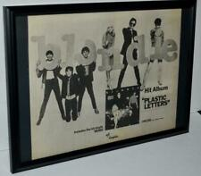 Blondie 1978 Plastic Letters Denis Single Framed Promotional Poster / Ad