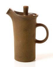 Vintage Mid Century Modern Coffee Pot Brown Matte Glaze Ceramic Stoneware Retro