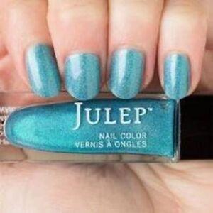 NEW! Julep nail polish HALLIE Vernis ~ Baby blue liquid holographic