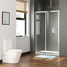 New Shower Screen Enclosure Wall to Wall Framed Sliding Door Rail Adjustable