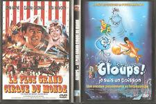 1 boitier 2 DVDs Gloups / Le plus grand cirque du monde DVD à Petit prix