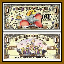 "Disney 1 Dollar, 2005 Series ""T"" Dumbo Disney Stores ""No Barcode"" Uncirculated"