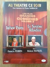 // NEUF LOT 2 DVD COFFRET ** SYSTEME RIBADIER TRESOR PARTY ** THEATRE PERREIN FE