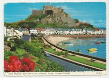 Postcard, Bamforth & Co, Mont Orgueil Castle & Gorey Harbour, Jersey