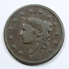 Pièce Etats-Unis USA 1 Cent Coronet Matron 1835 Rare !