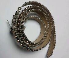 Genuine BB Simon Belt Women Size XL Leather Swarovski Crystals Tan