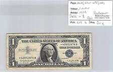 BILLET USA (SILVER CERTIFICATE)-1 DOLLAR 1957 BLEU-ETOILE B - REMPLACEMENT-RARE