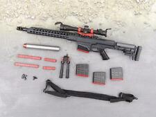 1/6 Scale Action Figure Toy MSE ZERT Black Jack MRAD Sniper Rifle Set Black 14