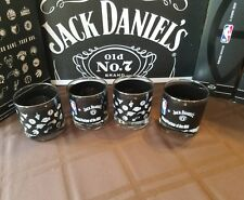 Jack Daniels Whiskey NBA Basketball glasses set of 4 Brand New