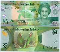 Cayman Islands $5 QEII UNC P-17 1996