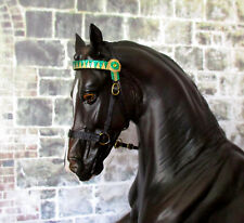English Type Show Halter (Green Band) for 1:9 (Breyer Traditional) Model Horse