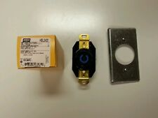 4 HBL 2420 HUBBELL 3 POLE 4 WIRE TWIST LOCKING RECEPTACLE WITH 4 FACE PLATES